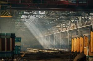 Руины на месте Красноярского комбайнового завода