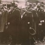 На манифестации (слева направо) Торез, Кашен, Дюкло, Вайян-Кутюрье. 1936 год